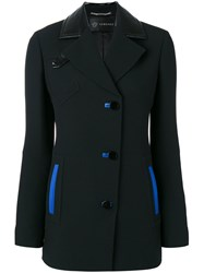 Versace Blue Accented Jacket Black