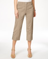 Jm Collection Embellished Capri Pants Only At Macy's Shy Grey