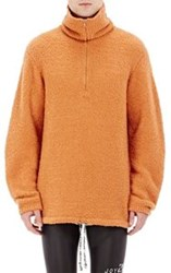Maison Martin Margiela Maison Margiela Men's Fuzzy Mock Turtleneck Sweater Orange