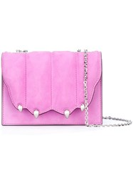 Marco De Vincenzo Paw Effect Cross Body Bag Pink And Purple