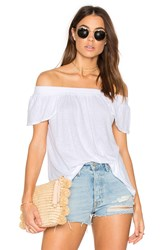 Michael Stars Luxe Off Shoulder Tee White