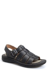 Born Men's Born 'Joshua' Sandal Black Leather