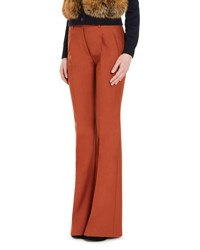Prada Flared Wide Leg Pants Orange