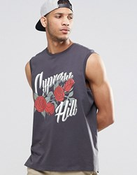 Asos Oversized Sleeveless T Shirt With Cypress Hill Print Black