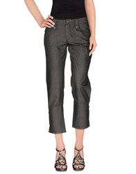 Frankie Morello Denim Denim Capris Women Grey