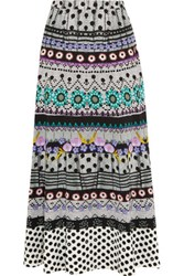 Temperley London Marley Printed Crepe Maxi Skirt Multi