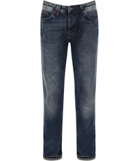 Bench Wahwah Medium Wash Mid Rise Jeans Blue