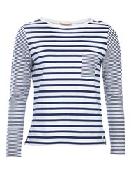 Barbour Barnacle Stripe Jersey Top Cloud Navy