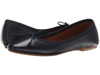 Summit White Mountain Kendall Navy Leather Women's Slip On Shoes Blue