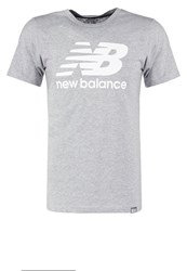 New Balance Print Tshirt Athletic Grey Mottled Grey