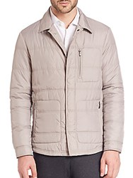 Saks Fifth Avenue Quilted Nylon Jacket Grey