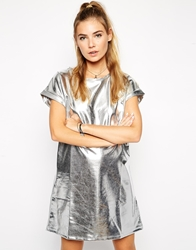 The Ragged Priest Metallica Dress Silver