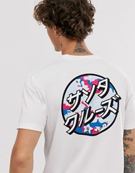 Santa Cruz Japanese Blossom Dot T Shirt In White