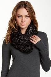14Th And Union Metallic Infinity Scarf Black