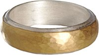 Malcolm Betts Women's Silver Gold Band Colorless