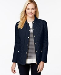 Charter Club Petite Long Sleeve Quilted Jacket Only At Macy's