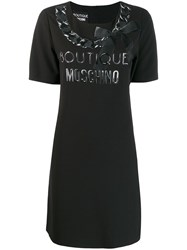 Boutique Moschino Printed T Shirt Dress Black