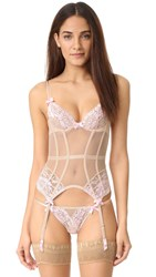 Agent Provocateur Gianna Basque Corset Oyster Pink