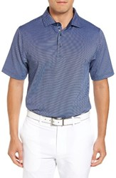 Bobby Jones Men's Xh20 Freckle Jacquard Stretch Golf Polo Summer Navy