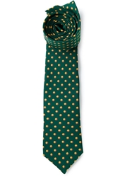 Fe Fe Fefe Small Circles Printed Tie Green