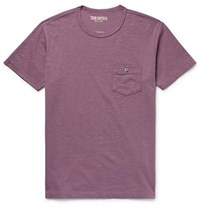 Todd Snyder Slub Cotton Jersey T Shirt Plum