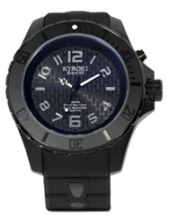 Kyboe Stainless Steel And Silicone Strap Watch