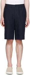 Paul Smith Navy Jacquard Palm Tree Shorts