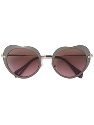 Miu Miu Eyewear Heart Shaped Sunglasses