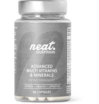 Neat Nutrition Advanced Multi Vitamins And Minerals 60 Capsules One Size Colorless