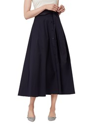 Lk Bennett L.K. Darly Cotton Skirt Navy