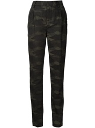 Blk Dnm Camouflage Slim Trousers Green