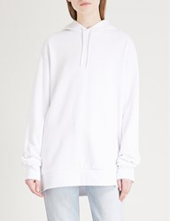 Cheap Monday Oversized Cotton Blend Hoody White