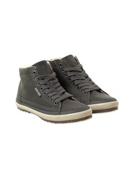 White Stuff Adam Leather High Top Trainer Grey