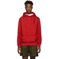 Polythene Optics Red Vertical Hoodie