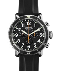 48Mm Runwell Sport Chronograph Watch With Rubber Strap Black Shinola