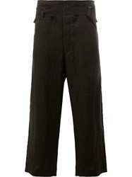 Ann Demeulemeester Drawstring Tailored Trousers Black