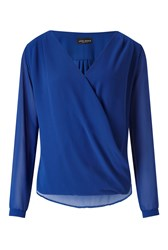 James Lakeland Crossover Blouse Blue