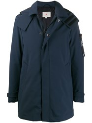 Peuterey Hooded Windbreaker Coat Blue