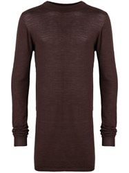 Rick Owens Mock Neck Sweater Brown