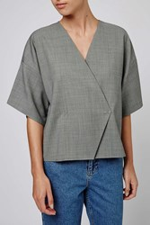 Houndstooth Kimono Top By Boutique Grey
