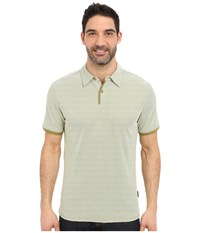 Royal Robbins Desert Knit Micro Stripe Cricket Spanish Moss Men's Short Sleeve Knit Olive