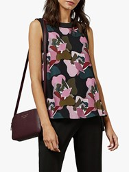 Ted Baker Kess Abstract Print Sleeveless Top Multi