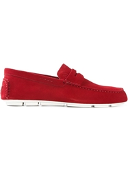 Armani Jeans Casual Penny Loafers Red