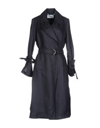 Max And Co. Overcoats Dark Blue