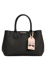 Karl Lagerfeld Saffiano Leather Tote Bag W Logo Tag