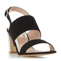 Head Over Heels Mally Etch Heel Sandals Black