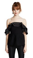 C Meo Collective Catch And Release Top Black Ivory