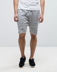 Cayler And Sons Drop Crotch Shorts With Distressing Grey