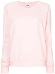 The Upside Logo Embroidered Sweatshirt Pink And Purple