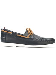 Moncler Gamme Bleu Laced Boat Shoes Blue